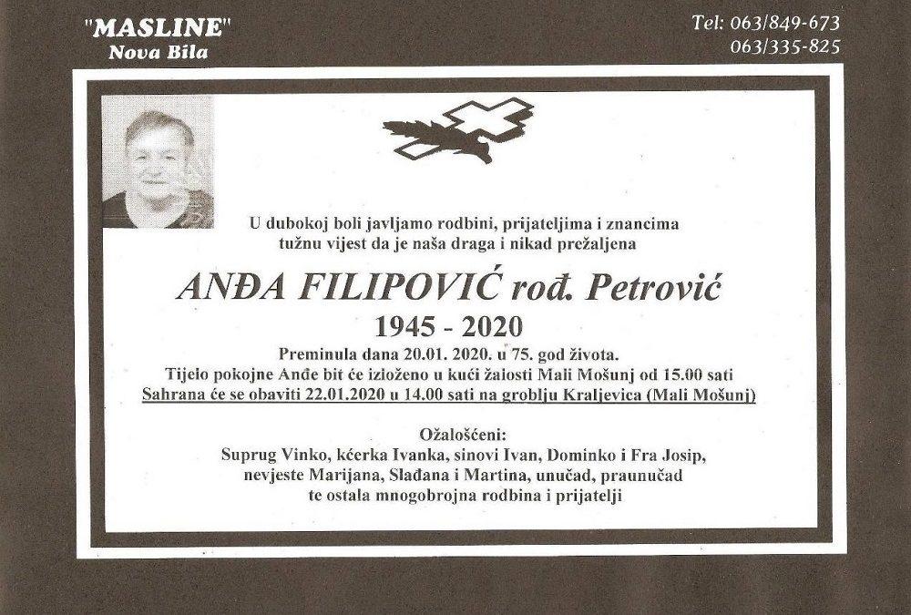 Anđa Filipović, rođ. Petrović