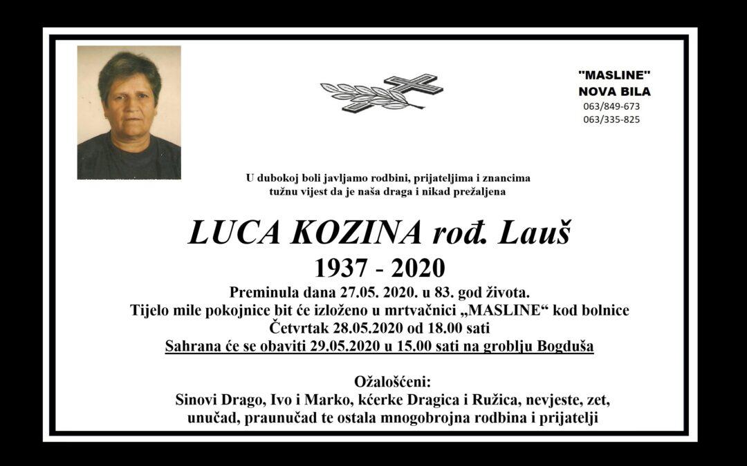 Luca Kozina rođ. Lauš