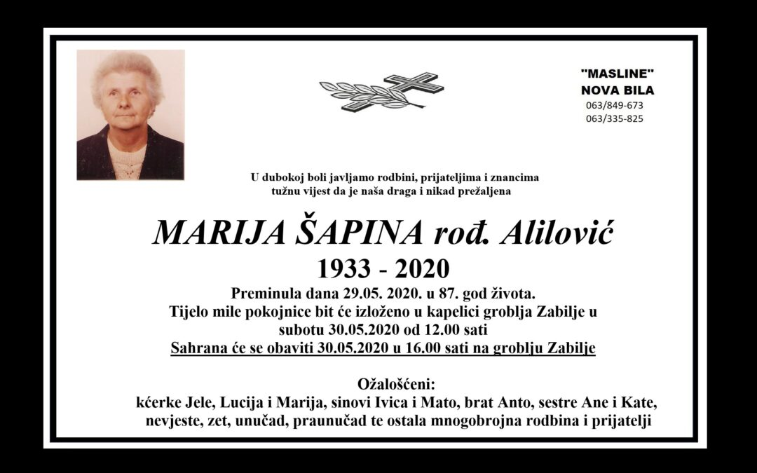 Marija Šapina rođ. Alilović