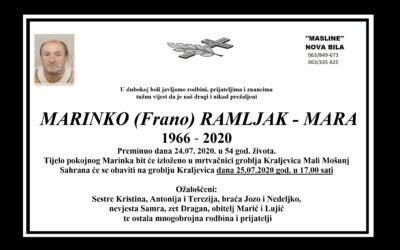 Marinko (Frano) Ramljak – Mara