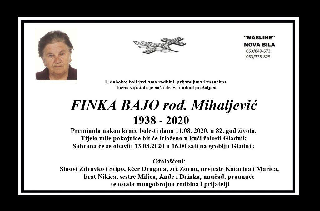 Finka Bajo rođ. Mihaljević