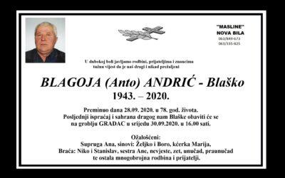 Blagoja (Anto) Andrić – Blaško