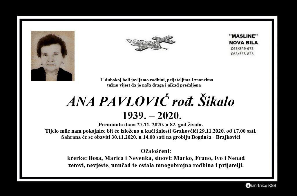 Ana Pavlović rođ. Šikalo