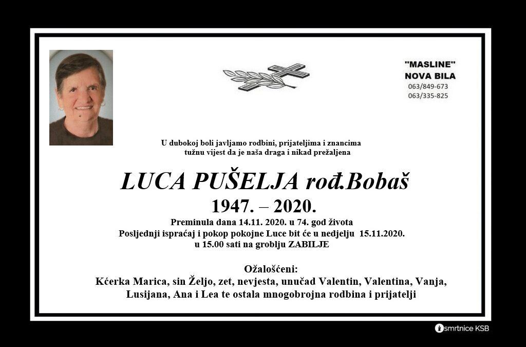 Luca Pušelja rođ. Bobaš