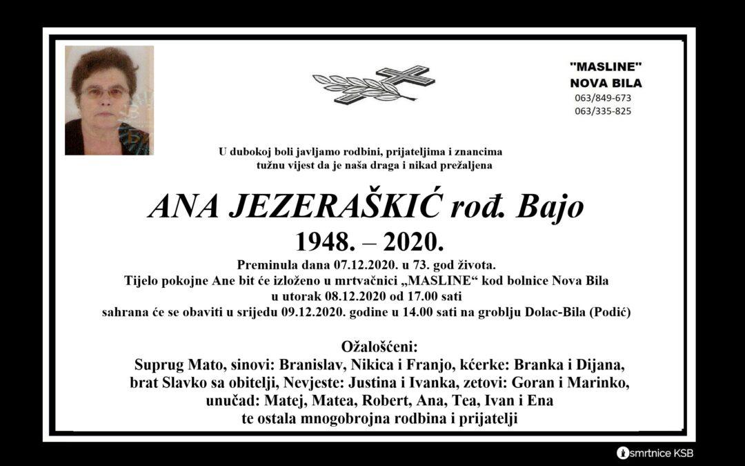 Ana Jezeraškić rođ. Bajo