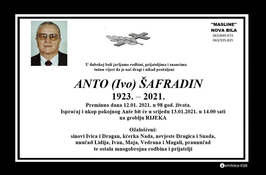 Anto (Ivo) Šafradin