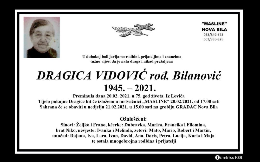 Dragica Vidović rođ. Bilanović