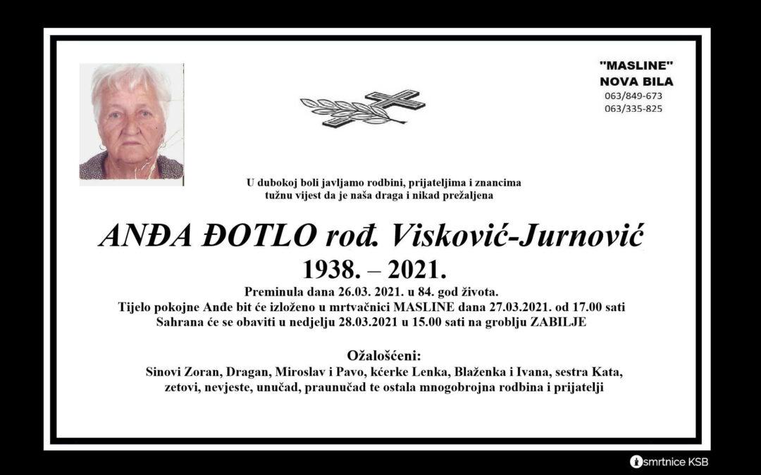 Ana Đotlo rođ. Visković-Jurnović
