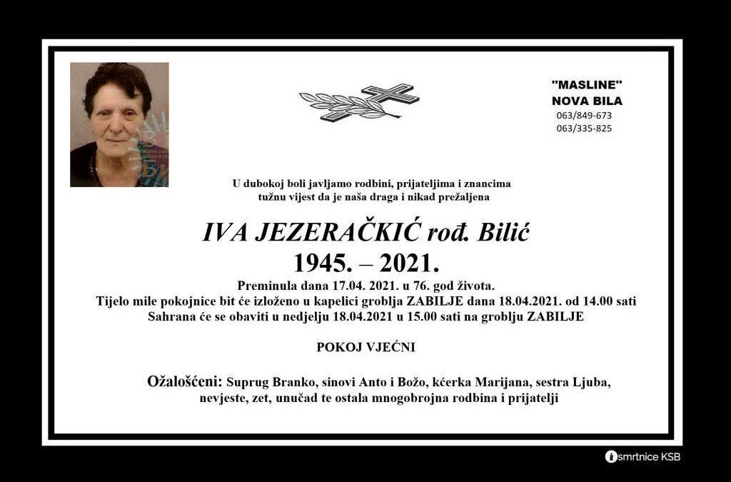 Iva Jezeračkić rođ. Bilić