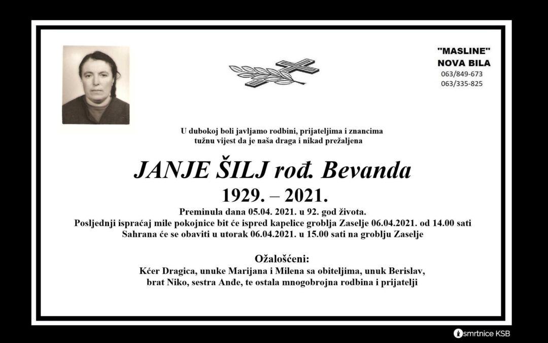Janje Šilj rođ. Bevanda
