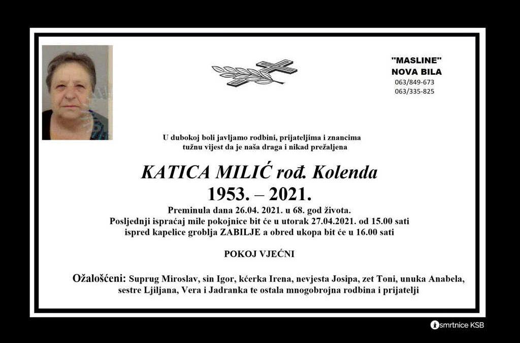Katica Milić rođ. Kolenda