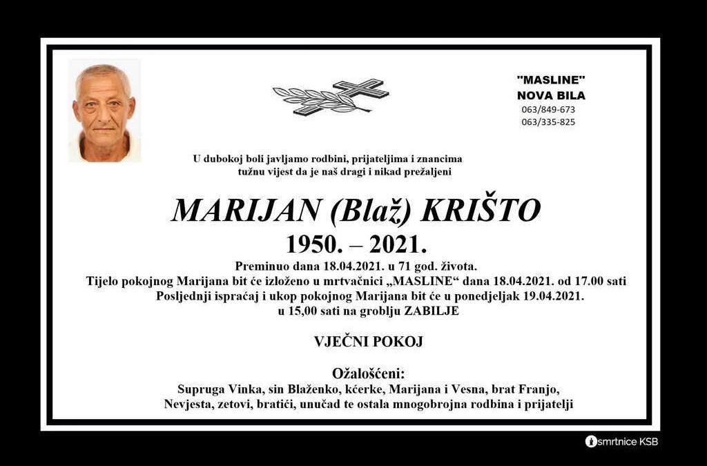 Marijan (Blaž) Krišto