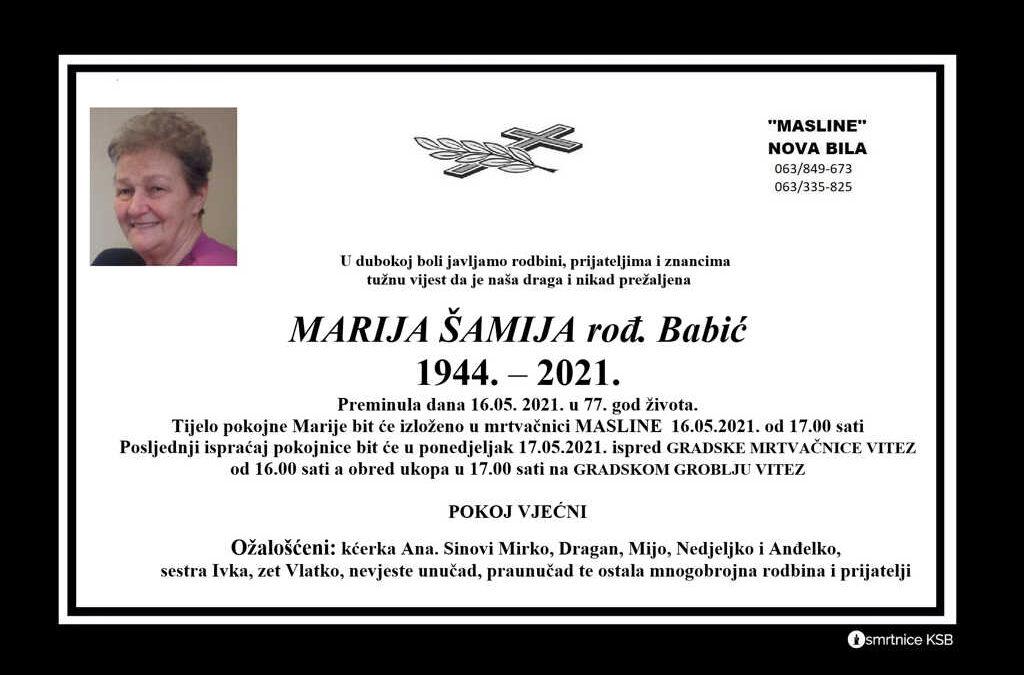 Marija Šamija rođ. Babić