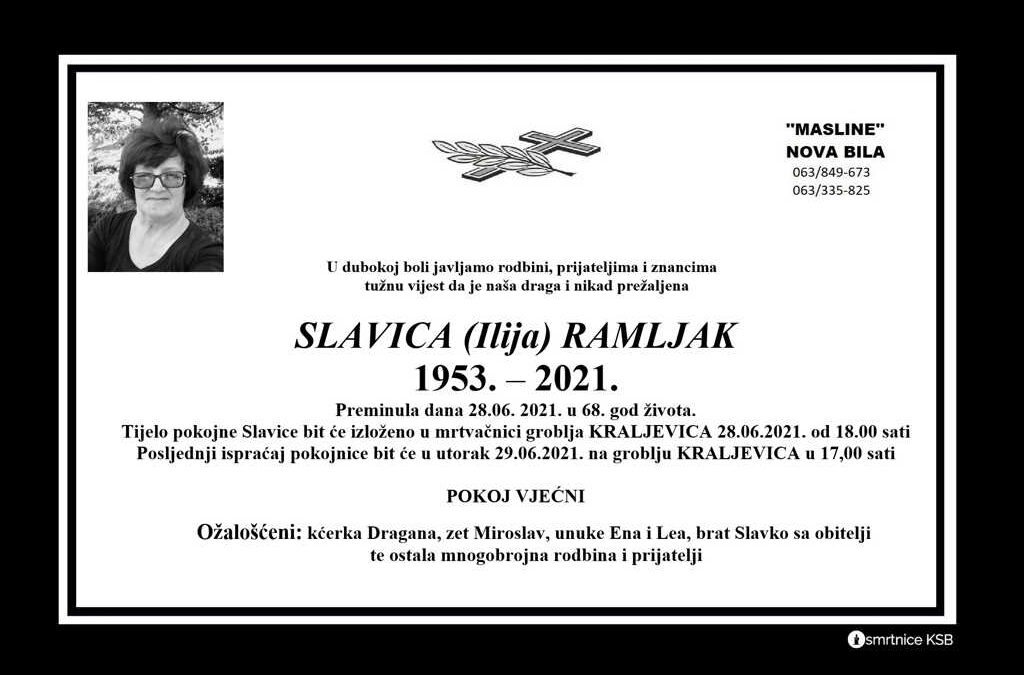 Slavica (Ilija) Ramljak