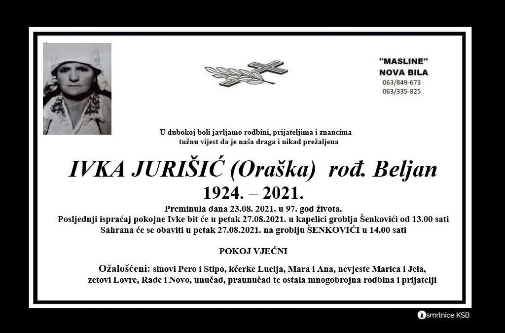 Ivka Jurišić (Oraška) rođ. Beljan