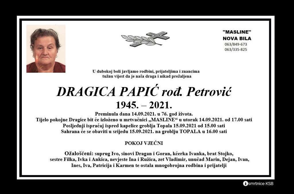 Dragica Papić rođ. Petrović