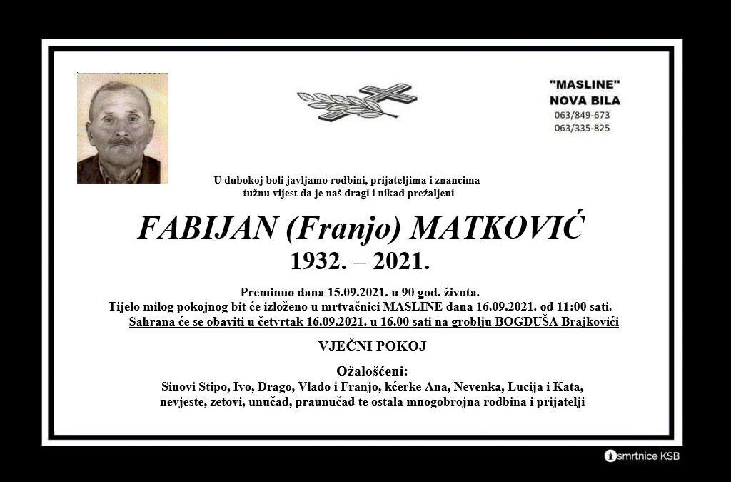 Fabijan (Franjo) Matković