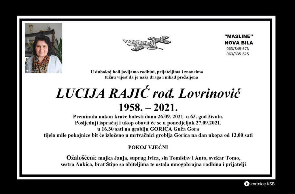 Lucija Rajić rođ. Lovrinović